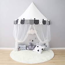 Kids Dream Teepee Tent Cotton Room Decoration For Children Canopy Bed Curtains For Baby Tipi With Net Princess Christmas Gifts