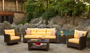 Image Porch Patio Patio Sets For Sale Discount Outdoor Furniture Bright Yellow Chair With Brown Rattan Frame Footymundocom Patio Amusing Patio Sets For Sale Patiosetsforsalediscount