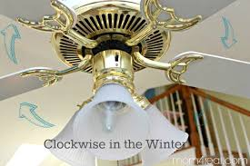 switch your ceiling fan to clockwise direction in the winter