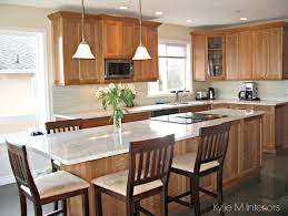 Natural Cherry Cabinets White Kitchen Update With Natural Cherry Cabinets Granite