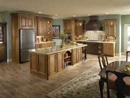Light Kitchen Flooring Light Wood Kitchen Cabinets With Dark Wood Floor Sharp Home Design