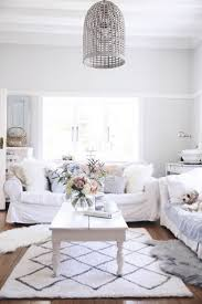 Design Ideas White Beach House Living Room Coastal Themed Unique Wicker Lamp Whte Wooden Coffee
