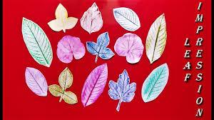 leaf impression art easy leaf printing for kids leaf painting