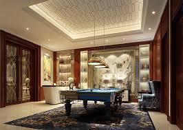billiard room lighting. 3D Rendered Billiard Room Lighting