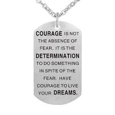 ping courage is not the absence of fear dog tag stainless steel military necklaces 71830