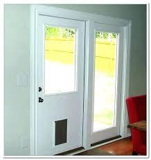 door with pet door built in door sliding screen door with dog door built in canada
