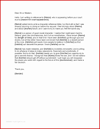Sample Of A Character Letter Character Letter For Court Sample Unparalleled Example Resume