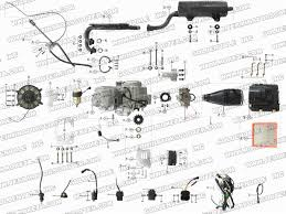 roketa atv engine wiring and exhaust parts