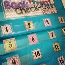 Book Check Out Station Free Pocket Chart Cards Mrs