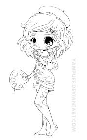Artist Chibi Lineart By Yampuff On