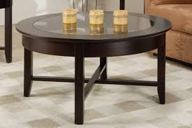 demi lune round coffee table with glass top