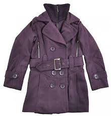 New Girls Double Breasted Pea Coat Winter Kids Size 6 8 10