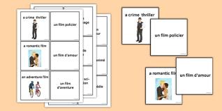 Film Genres Les Genres De Films Jeu De Cartes French Les Genres De Films