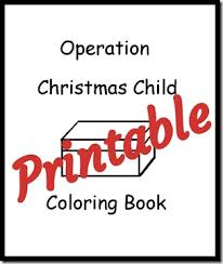 Small Picture Printable Coloring Book for Operation Christmas Child Operation