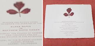 Flower Pressed Paper Pressed Leaf Wedding Invitation On Handmade Paper Tiny
