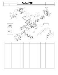 Diagram poulan p3314 chainsaw parts diagram