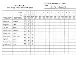 Workout Progress Charts Antemno Raine Exercise Chart