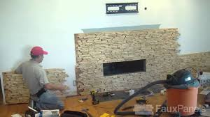 install a faux stone fireplace surround step by step demo