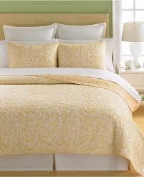 Martha Stewart Collection Aspendale Cotton King Quilt Butter Yellow &  Adamdwight.com