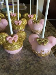 Pink And Gold Minnie Mouse Cake Pops Treats I Have Made Minnie