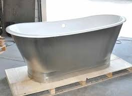 cast iron double ended stainless steel slipper pedestal tub enameled bathtub enamel steel bathtubs