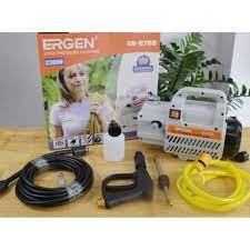 Máy rửa xe áp lực cao ERGEN 6708 Máy rửa xe mini gia đình công suất 2300W  moter lõi đồng cảm ứng từ tự động hút và ngắt nước khi bóp cò,