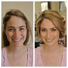 brunette before and after hair and makeup