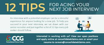 Career Interview Tips 12 Tips For Acing Your Next Job Interview Consolidated