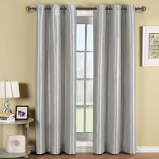 com soho gray silver grommet blackout window curtain d solid pattern 42x84 inches by royal hotel home kitchen