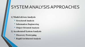 System Analysis Methods
