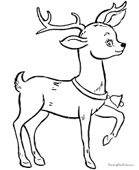 Small Picture Christmas Reindeer Coloring Pages 011