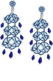 best of blue chandelier earrings for blue chandelier earrings 39 royal blue crystal chandelier earrings