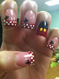 Mickey Mouse nails design | Mickey nails, Mickey mouse nail art, Mickey  mouse nails