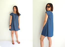 Free Dress Sewing Patterns Amazing Free Japanese Sewing Pattern With Translations Denim Smock Dress