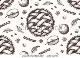 apple pie slice drawing. Fine Pie Seamless Pattern With Ink Hand Drawn Apple Pie Sketch With Apple Pie Slice Drawing P