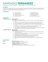 Sales Resume Objective Examples - Eco-Zen.info