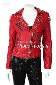 womens leather motorcycle jackets whole leather motorcycle hi q women rock punk rivets