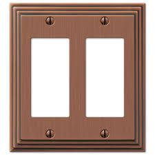 hampton bay steps 2 decora wall plate antique copper copper light switch plates r53