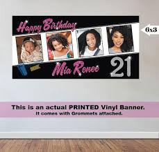 happy birthday customized banners birthday banner 4 photos 21st birthday party personalized