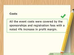 How To Write An Event Report With Examples Wikihow