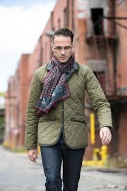 Weekend Casual Style With a Quilted Jacket - He Spoke Style & And so are awesome scarves. Adamdwight.com