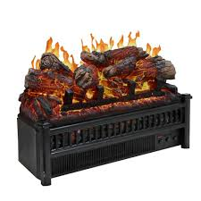 electric log set with heater