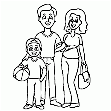 Free Coloring Pages Of A Family - Coloring Pages Ideas