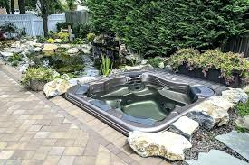 elegant in ground hot tubs above ground hot tub landscaping backyard design ideas above ground above