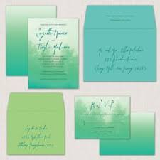 ombre forest wedding cards invites and save the dates Wedding Paper Divas Ombre Forest from weddingpaperdivas com · pine tree ombre blue green turquoise wedding invitations Wedding Hairstyles