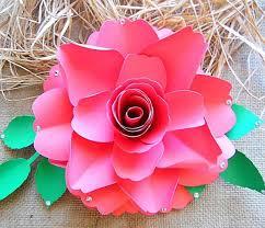 Homemade Paper Flower Decorations Diy Paper Rose Pattern Diy Paper Rose Flower Templates Diy Etsy