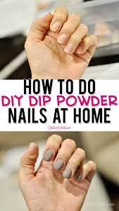 how to do diy dip powder nails at home