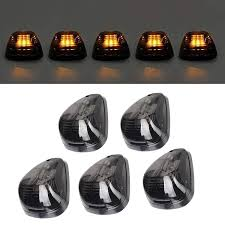 2008 F350 Interior Lights 5 Pcs Smoked Lens Amber Led Cab Marker Clearance Light Roof Running Light Assembly For 1999 2016 Ford F250 F350 F450 F550