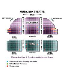 Music Box Theatre New York Seating Chart Music Box Theatre Seating Chart Theatre In New York