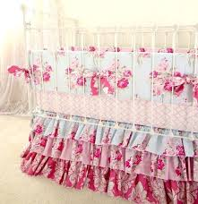 roses baby bedding pink and blue roses baby girl crib bedding shabby chic baby bedding with
